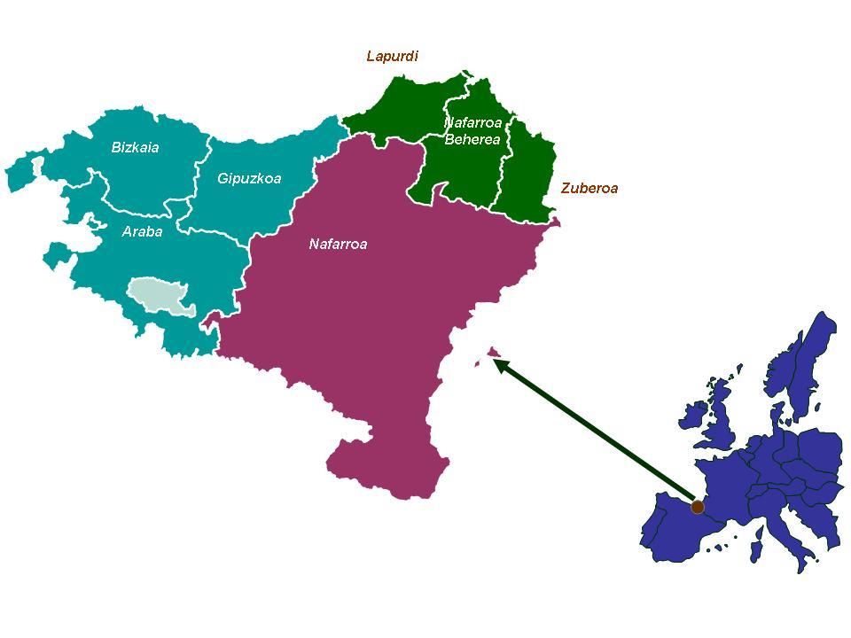 Mapa De Pais Vasco Por Provincias.Euskera Pueblo Y Lengua Euskara Gobierno Vasco